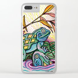 Two Frogs Clear iPhone Case