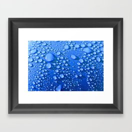 Raindrops on Blue Framed Art Print