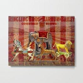 Vintage Circus Metal Print