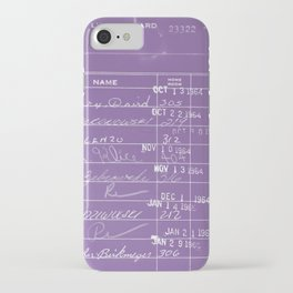Library Card 23322 Negative Purple iPhone Case