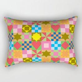 patchwork pattern Rectangular Pillow