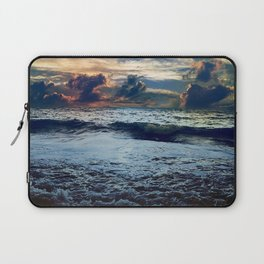 sea storm colors paints storming sky bad weather horizon Laptop Sleeve