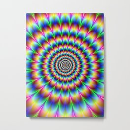 Rainbow illusion Metal Print