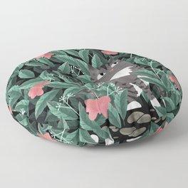 Butterfly Garden (Tabby Cat Version) Floor Pillow