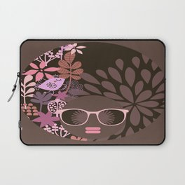 Afro Diva : Sophisticated Lady Pink Taupe Lavender Laptop Sleeve