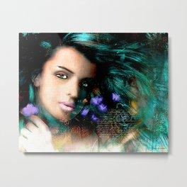 Turquoised Beauty Metal Print