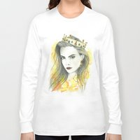 zodiac Long Sleeve T-shirts featuring Zodiac - Leo by Simona Borstnar