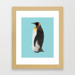King Penguin Polygon art Framed Art Print
