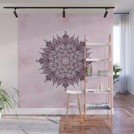 Pink Mandala Fractal Art Wall Mural