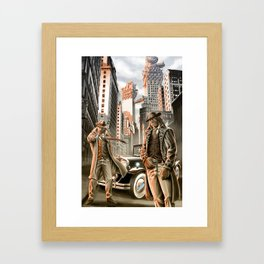 Detectives from other worlds Framed Art Print