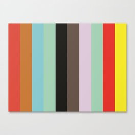 VOCABULARY Abstract Pattern Canvas Print