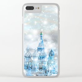 Russian christmas Clear iPhone Case