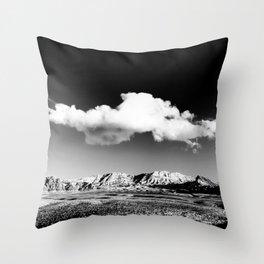 Black Sky Desert Landscape // Red Rock Canyon Las Vegas Nevada Mojave Mountain Range Throw Pillow