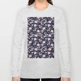 Little Flowers on Blue Long Sleeve T-shirt