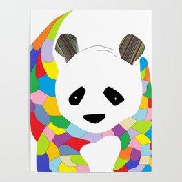 Patchwork Panda Poster