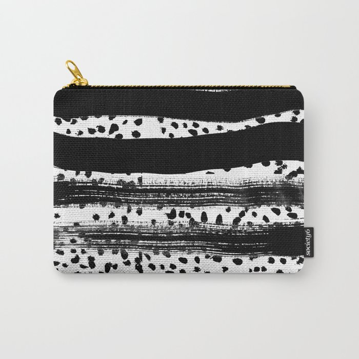 Iver - black and white minimal painting abstract art brooklyn trendy urban street city art work  Carry-All Pouch