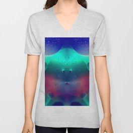 Vibrant Symmetry Oil Droplets Unisex V-Neck