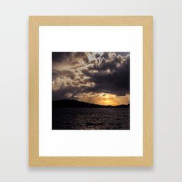 Dramatic change in the weather Framed Art Print