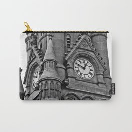 B&W Clock Tower Carry-All Pouch