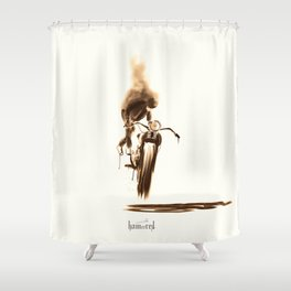 Miss moody Shower Curtain