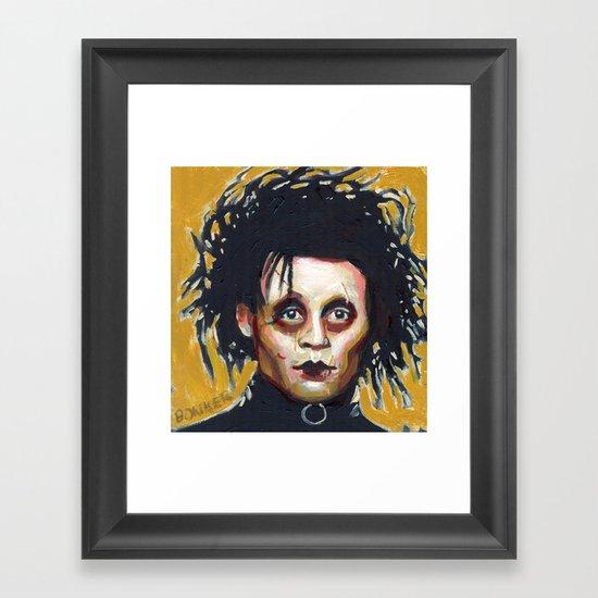 Edward Scissorhands - Johnny Depp Framed Art Print