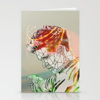 niall Stationery Cards featuring Geometric Niall by Peek At My Dreams