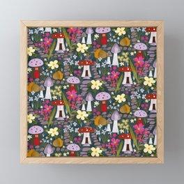 Fairy garden toadstools mushrooms  Framed Mini Art Print