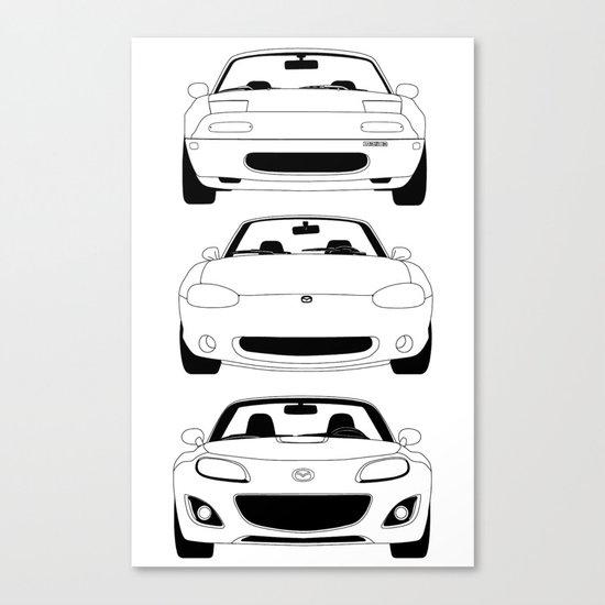 MX-5/Miata Generations Canvas Print