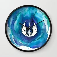 jedi Wall Clocks featuring Star Wars Jedi Watercolor by foreverwars