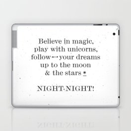 NIGHT NIGHT - white Laptop & iPad Skin
