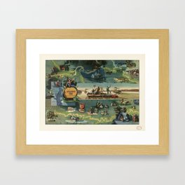 The adventures of Huckleberry Finn from the book by Mark Twain Framed Art Print