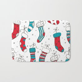 Christmas socks Bath Mat