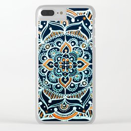 Bohemian Zen Mandala Clear iPhone Case