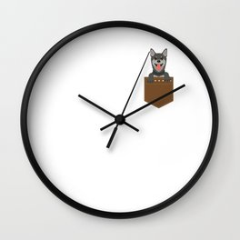 Cute & Funny Pocket Puppy for Dog Lovers Wall Clock