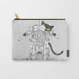 Cat Chicken Motorcycle Art Print Carry-All Pouch