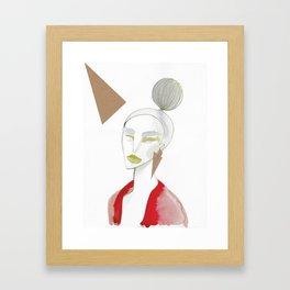 Marleen has sharp edges Framed Art Print