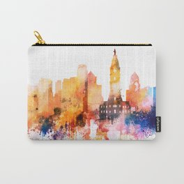 Philadelphia watercolor Carry-All Pouch