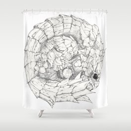 Scaley Knight Shower Curtain