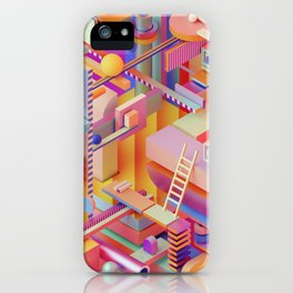 dreaming in technicolor iPhone Case