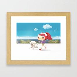 Road Running Framed Art Print