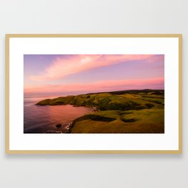 jacks bay new zealand beautiful colors at sunset farmland Framed Art Print