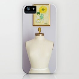 Her and the girl with the yellow flower iPhone Case