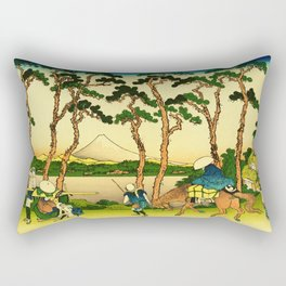 Hodogaya Station on the Tokaido Road Rectangular Pillow
