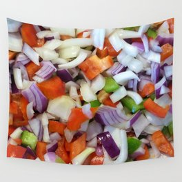 Onions and Bell Peppers Wall Tapestry