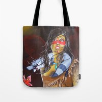 pocahontas Tote Bags featuring pocahontas by marmaseo