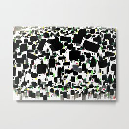 Wu Guanzhong - The Wu Village Metal Print
