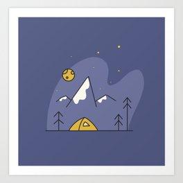 Tent Blues Art Print