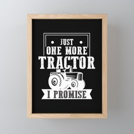 Farmer Tractor addict Trucker Agriculture Farming Framed Mini Art Print