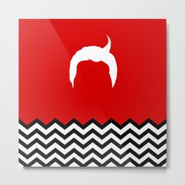 Black Lodge Dreams: Dale Cooper's Hair (Twin Peaks) Metal Print