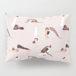 Woman yoga poses international pattern Pillow Sham